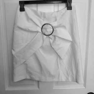 Forever21 Small White Skirt w/Buckle